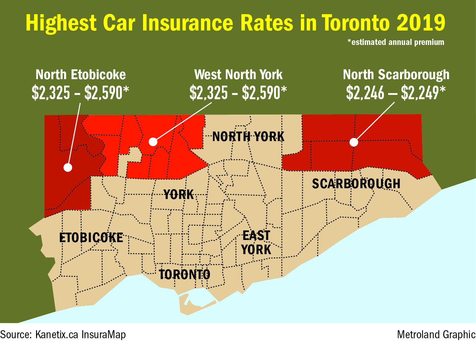 Drivers In Toronto S Suburbs Pay More For Car Insurance Study Finds Toronto Com